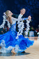 Viennese Waltz, becoming the official ballroom dance, perfectly in harmony with the then fashion