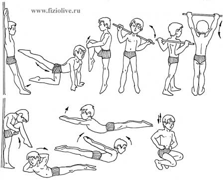 A sample set of exercises for preschoolers 5-6 years