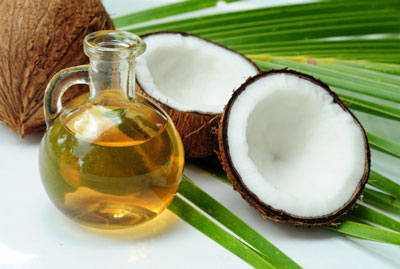 Coconut oil in cooking, use in food